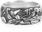 Zilveren Ring - Lotus - Handgemaakt - 18mm