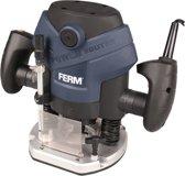 FERM Bovenfrees 1300W - 6, 8 mm - Stofzuiger adapter - Incl. Parallelgeleider, sjabloongeleider en 6-delige freesset