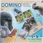 The Comedy Wildlife Houten Domino Dieren 28-delig