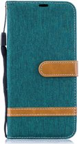 Samsung Galaxy A50 Hoesje - Denim Book Case - Groen