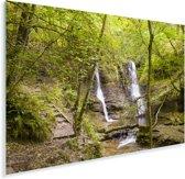 Watervallen diep in de bossen van het Nationaal park Brecon Beacons Plexiglas 120x80 cm - Foto print op Glas (Plexiglas wanddecoratie)