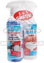 Hg kalkweg3x +glas en spiegelspray