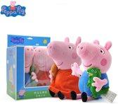 Peppa big knuffel pakket - Ideaal cadeau - Peppa en George pig - 2 knuffels in doos