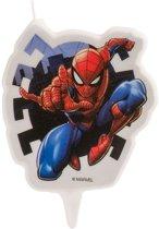 Verjaardagskaars Spiderman™ - Feestdecoratievoorwerp