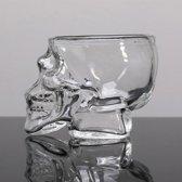 2 Stuks Shotglas met Doodshoofd - 7.3 x 5.3 cm - Whiskey Wodka Glas