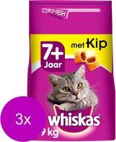 Whiskas Brokjes Senior Kip - Kattenvoer - 3 x 1.9 kg