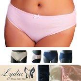 Lydia 3-pack Midi slip donker blauw/off wit/roze maat XL