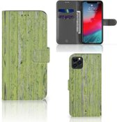 iPhone 11 Pro Max Book Style Case Green Wood