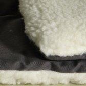 LIGKUSSEN COZY 58X42CM 2-zijdig grijs/wit