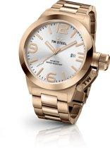 TW Steel CB161 Canteen Bracelet Collection - Horloge -  Staal - 45 mm - Rosékleurig