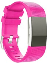 Bandje Small Voor de Fitbit Charge 2 - Siliconen Armband / Polsband / Strap Band / Sportband - Roze