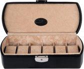 Windrose Horloge Box Merino Zwart - 6 stuks