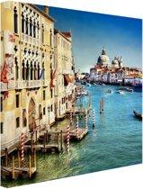 Venetie Canvas 80x120 cm - Foto print op Canvas schilderij (Wanddecoratie)