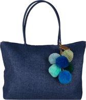 Jozemiek Paperbag Met Gratis Pompoms - Donkerblauw