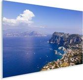 Uitzicht vanaf de noordkust van Capri in Italië Plexiglas 30x20 cm - klein - Foto print op Glas (Plexiglas wanddecoratie)