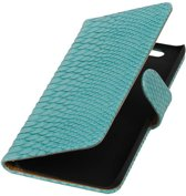 Huawei Nexus 6P Turquoise | Snake bookstyle / book case/ wallet case Hoes  | WN™