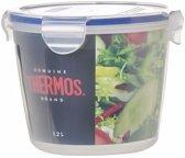 2x stuks Thermos airtight vershoud doosjes/bakjes rond 1.2 liter