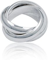 Classics&More Zilveren Ring - Maat 58 - 6 mm - Cartier