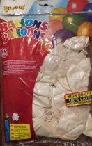 Globos zak met 100 ballons, no. 12 parel wit