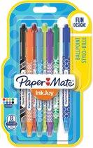 Papermate InkJoy 100 RT Multi kleuren Clip-on retractable ballpoint pen Medium 8 stuk(s)