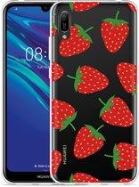 Huawei Y6 2019 Hoesje Aardbei