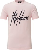 Malelions T-shirt Signature Pink/Navy
