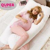 Zwangerschapskussen Extra Groot - Wit