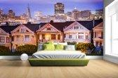 Fotobehang vinyl - Huizen San Francisco breedte 380 cm x hoogte 265 cm - Foto print op behang (in 7 formaten beschikbaar)