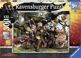 Ravensburger puzzel Dragons. Trouwe vrienden - Legpuzzel - 300 stukjes