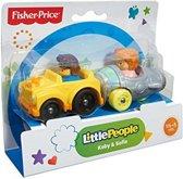 Fisher Price Little People Wheelies - Gele auto en grijze raket