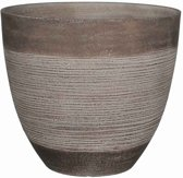 Mica Decorations Echo ronde pot taupe maat in cm: 33 x 37