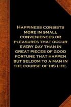 2019 Daily Planner Ben Franklin Quote Happiness Vintage Style