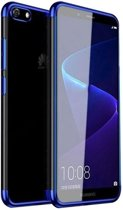 Teleplus Huawei Y5 2018 Luxury Laser Silicone Case Blue hoesje