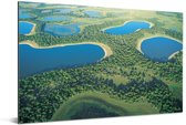 Foto vanuit lucht van de Pantanal in Zuid-Amerika Aluminium 60x40 cm - Foto print op Aluminium (metaal wanddecoratie)