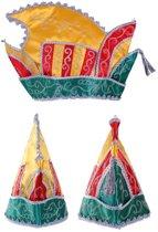 Prinsenmuts rood/geel/groen 63cm