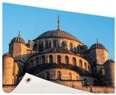 Moskee Midden-Oosten Tuinposter 60x40 cm - klein - Tuindoek / Buitencanvas / Schilderijen voor buiten (tuin decoratie)