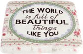 Onderzetter World beautiful   6PR1077   Clayre & Eef