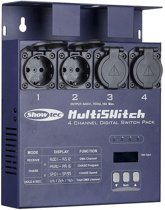 Showtec Showtec MultiSwitch, 4 kanaals switchpack, Schuko uitgangen Home entertainment - Accessoires