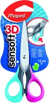 Sensoft 3D 13 cm / 5 schaar - zachte grepen - blauw/roze