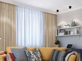 Verduisterend 150 x 260 cm Beige met plooiband Kant en klaar gordijn geschikt voor rail en roede systemen   LEMONI luxe zonwerende kamerhoge gordijnen