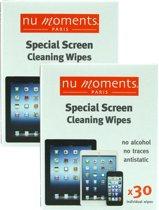 Nu Moments Paris - Antistatische Schoonmaak doekjes voor Schermen smartphone & tablet - 2 x 30 stuks