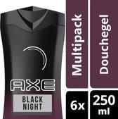 Axe Black Night For Men Douchegel  - 6 x 250 ml - Voordeelverpakking