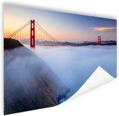 Golden Gate Bridge in de mist Poster 60x40 cm - Foto print op Poster (wanddecoratie)