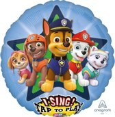 """Sing-A-Tune """"Paw Patrol"""" Foil Balloon , P75, packed, 71 x 71cm"""
