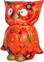 Uil Bo spaarpot   Uil - Oranje met smileys en bloemen   Pomme pidou