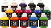 A-color acrylverf, kleuren assorti, 01 - glossy, 15x500 ml