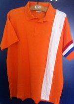 Oranje polo XL