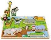 Hape Houten staande puzzel jungle