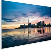 Zonsondergang achter de Canadese hoofdstad Toronto Plexiglas 60x40 cm - Foto print op Glas (Plexiglas wanddecoratie)
