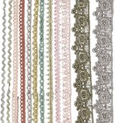 Kanten lint, b: 10-25 mm, 12x3 m, diverse kleuren